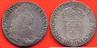 LOUIS XIV  LOUIS XIV 1643-1715 ECU A LA CRAVATE 2e EMISSION WARIN ANNEE 1679 9 ATELIER RENNES POIDS 27.5g / NUMERO CATALOGUE: G210 / QUALIT