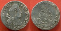 LOUIS XIV  LOUIS XIV 1643-1715 4 SOLS DE BEARN AUX 2 L 1694 PAU POIDS 1.36g DATE INCONNUE INEDITE / NUMERO CATALOGUE: G106a / QUALITE: TB/T