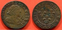 LOUIS XIII  LOUIS XIII 1610-1643 DOUBLE TOURNOIS 1637 SANS DIFFERENT NI MARQUE POIDS 3.12g / NUMERO CATALOGUE: DROULERS227 / QUALITE: TTB.