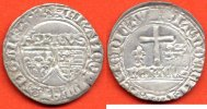 HENRI VI  HENRI VI 1422-1453 BLANC AUX ECUS ANNEE 1422 ATELIER ROUEN METAL ARGENT POIDS 3g / NUMERO CATALOGUE: DUP445 / QUALITE: TTB/SUP.
