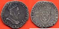 HENRI II  HENRI II 1547-1559 TESTON 1er TYPE A/HENRICVS 2 DEI GRA FRANCOR REX BUSTE A DROITE DU ROI , CUIRASSE , PORTANT UNE COURONNE FERM