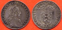 LOUIS XIII  LOUIS XIII 1610-1643 1/12 ECU DEUXIEME POINCON DE WARIN COURS LEGAL 5 SOLS 1643 ATELIER A PARIS METAL ARGENT POIDS 2.30g / NUMER