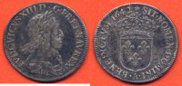 LOUIS XIII  LOUIS XIII 1610-1643 1/4 ECU 2e poincon VAR etoile apres rex  ANNEE 1642 A ATELIER PARIS METAL ARGENT / NUMERO CATALOGUE: G48 / 