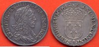LOUIS XIII  LOUIS XIII 1610-1643 DEMI ECU 1er POINCON DE WARIN 30 SOLS 1642 A 2 POINTS ATELIER PARIS  METAL ARGENT POIDS 13.7g / NUMERO CATA