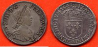 LOUIS XIV  LOUIS XIV 1643-1715 QUART ECU A LA MECHE COURTE METAL ARGENT ANNEE 1643 A  ATELIER PARIS / NUMERO CATALOGUE: G139 / QUALITE: TTB