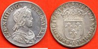 LOUIS XIV  LOUIS XIV 1643-1715 QUART ECU A LA MECHE COURTE ROSE METAL ARGENT ANNEE 1644 A ATELIER PARIS / NUMERO CATALOGUE: G139 / QUALITE: