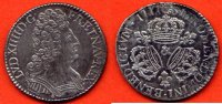 LOUIS XIV  LOUIS XIV 1643-1715 DEMI-ECU AUX 3 COURONNES METAL ARGENT ANNEE 1711 & ATELIER AIX / NUMERO CATALOGUE: G199 / QUALITE: TTB/SUP.
