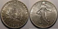 1908 2 Francs Monnaie Française, Semeuse, 2 Francs 1908   60,00 EUR  Excl. 7,00 EUR Verzending