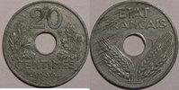 1944 20 Centimes Monnaie française, Etat Français, 20 centimes, 1944 Z... 60,00 EUR  Excl. 7,00 EUR Verzending