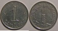 1 Centime  Monnaie franaise, Epi, 1 Centime 1989