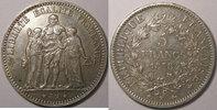 1878 K 5 Francs Monnaie Française, Hercule, 5 Francs 1878 K Bordeaux, ... 160,00 EUR  Excl. 7,00 EUR Verzending