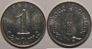1987 1 Centime France, Epi, 1 Centime 1987 SPL, KM# 928 vz+  4,00 EUR