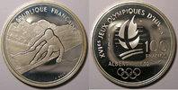 1989 Monnaies commémoratives France, Ski alpin, 100 Francs 1989 SPL, K... 20,00 EUR