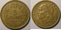 1946 C 5 Francs France, Lavrillier, 5 francs 1946 C bronze aluminium, ... 18,00 EUR