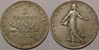 1898 2 Francs France, Semeuse Flan Mat, 2 Francs 1898 SUP Gad: 532 vz  320,00 EUR kostenloser Versand