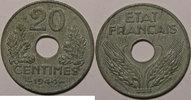 1944 20 Centimes Monnaie française, Etat Français, 20 Centimes 1944 zi... 35,00 EUR  zzgl. 7,00 EUR Versand