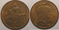1910 5 Centimes France, Dupuis, 5 Centimes 1910 SUP, Gad: 165 vz  60,00 EUR  zzgl. 7,00 EUR Versand