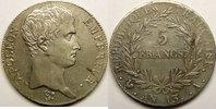 5 Francs Monnaie française, Napoléon Ier empereur, 5 Francs l'AN 13 A... 700,00 EUR Gratis verzending