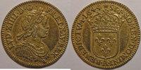 1644 A LOUIS XIV (1643-1715) Monnaie dorée, Louis XIV, 1/12ème Ecu à l... 150,00 EUR  zzgl. 7,00 EUR Versand