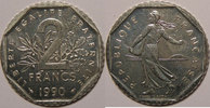 1990 2 Francs Monnaie française, Semeuse, 2 Francs 1990 SUP+, Gadoury:... 55,00 EUR  zzgl. 7,00 EUR Versand