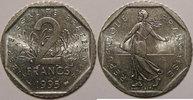 1995 2 Francs Monnaie française, Semeuse, 2 Francs 1995 SUP/SUP+, KM# ... 9,00 EUR  zzgl. 7,00 EUR Versand