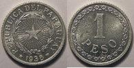 1938 Paraguay Paraguay, 1 Peso 1938  SUP+/SPL, KM# 16 vz+  6,00 EUR  zzgl. 7,00 EUR Versand
