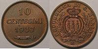 1937 Saint Marin San Marino, 10 Centesimi 1937, SUP, KM#13 vz  12,00 EUR  zzgl. 7,00 EUR Versand