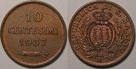 1937 Saint Marin San Marino , 10 Centesimi 1937, SUP, KM#13 vz  12,00 EUR  zzgl. 7,00 EUR Versand