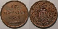 1937 Saint Marin San Marino, 10 Centesimi 1937, SUP, KM# 13 vz  12,00 EUR  zzgl. 7,00 EUR Versand