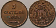 1936 Saint Marin San Marino, 5 Centesimi 1936, SUP , KM#12 vz  10,00 EUR  zzgl. 7,00 EUR Versand