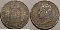 Espagne  Monnaie trangre, Espagne, Spain, 2 Pesetas 1905