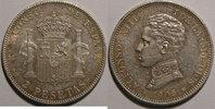 1905 Spain Monnaie étrangère, Espagne, Spain, 2 Pesetas 1905   55,00 EUR  Excl. 7,00 EUR Verzending
