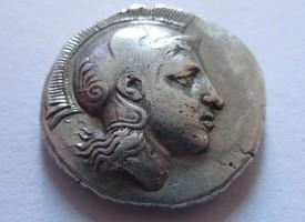 Drachme 424-404 v.  Griechenland Drachme von Pharsalos in Thessalien   Rs. Thessalischer Reiter n. rechts sehr schön