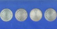 Deutschland 10 DM 4 x 10 DM (Ag) olympische Spirale, Inschrift DEUTSCHLAND