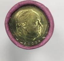 2 € 2003 MONACO 2 € RAINIER III 2003 versiegelte rolle von 25 münzen Unz