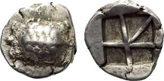 AR Stater ca. 456 - 431 v.Chr. ATTICA  ss-...