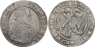 Taler 1587 Kutten HABSBURGER Rudolf II., 1...