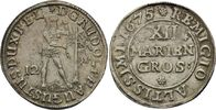 12 Mariengroschen 1675  Rudolf August, 1666 - 1685 ss+, feine Patina  100,00 EUR  zzgl. 6,90 EUR Versand