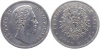 Bayern 5 Mark 1874 D min. Kr., sehr sch&ouml;n Ludwig II. 1864-1886. 90,00 EUR 