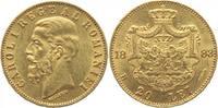 20 Lei - GOLD- 1883 Rumänien Carol I. 1866-1914, bis 1881 Prinz, König ... 480,00 EUR kostenloser Versand