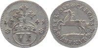 6 Pfennig 1749 Braunschweig-Wolfenbüttel Karl I. 1735-1780. sehr schön ... 20,00 EUR  +  5,00 EUR shipping