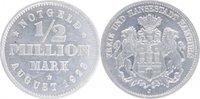 1/2 Million Mark 1923  J Hamburger Bank von 1923 AG  min. Kr., vz  /  v... 9,00 EUR  +  5,00 EUR shipping