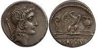 Roman Republican AR denarius Q. Cassius Longinus
