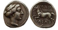 Ancient Greece drachm Thessaly, Larissa