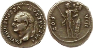 denarius 77-78 AD. Roman Imperial Vespasian Sehr schön  225,00 EUR  zzgl. 10,00 EUR Versand
