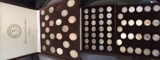 1951-1974  73 x 5 DM Silberadler komplett...