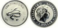 2001  1 Dollar Jahr der Schlange ST  115,00 EUR  zzgl. 4,00 EUR Versand