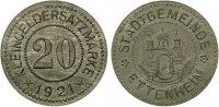 1921   Ettenheim - Zink (Funck 124.7) 20 Pfennig 1921 Prägefrisch TOP!... 165,00 EUR  zzgl. 4,00 EUR Versand