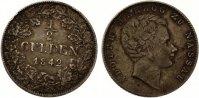 1842  1/2 Gulden Nassau ss seltenster Jahrgang !!  65,00 EUR  zzgl. 4,00 EUR Versand
