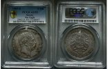 Sachsen 5 Mark 1889 PCGS AU55 small Eagle